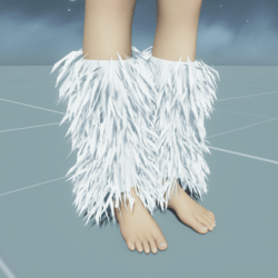 GoGo Dancer Furry Legwarmers WHITE