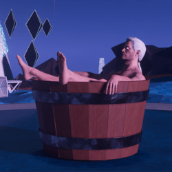 Witcher Hot Tub Animation