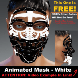 Animated Mask: White - Male Avatars