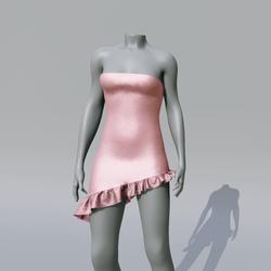 SUZY  Bubblegum Asymetrique Dress