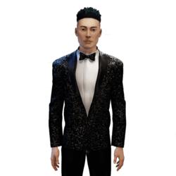 Glitter Tuxedo black