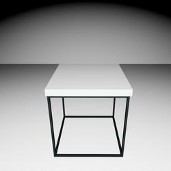 Delano Side-table - White/Black