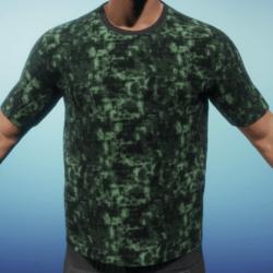 [BC] digital camo green T shirt