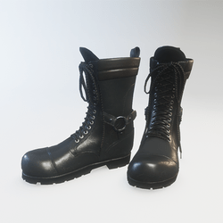 Punk Boots Leather Black - Female (Wide Version)