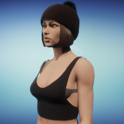 Small Black CropTop
