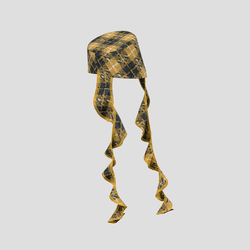 Trailblazing Hat black & yellow checked