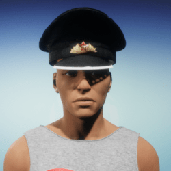 men's soviet leather cap