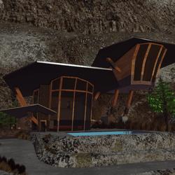Cliffside House and landscape