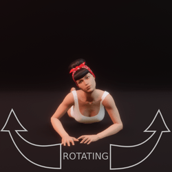 modelpose liegend 07 rotating