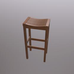 Barstool_#5 (Wooden)