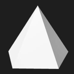 Pentagonal pyramid - White - Collision Mesh - 1M