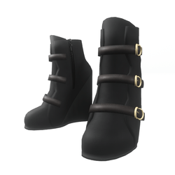 "Wedge boots for ""Alina Daisy"" and ""Nicci"" avatar - black"