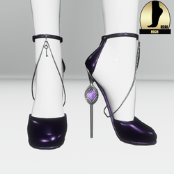 Galaxy cage heels for the h2ai high - purple silver