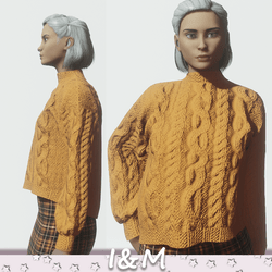 woolen jacket orange