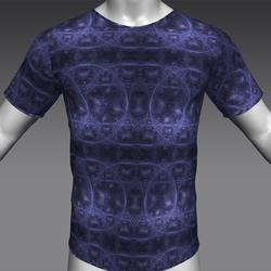 TShirt  - da Vinci Fractal Blue