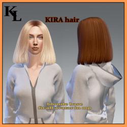 kira hair -blonde base -fit all avatars in mp