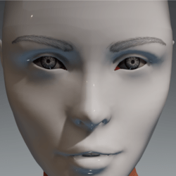 Tintable eyes and brows for the Irene Head by Apocalypse Bunnies