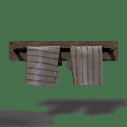 Industrial Towel-Rack Dark metal