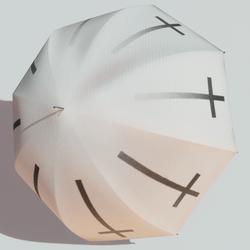Parasol inv cross wt