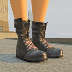 Shoes Boots Grunge Black Female