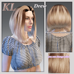 Drew-dark blonde base-you can change colors