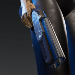 Double barrel (over and under) sawed off shot gun (attachment)