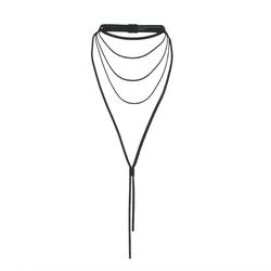 AV 2.0 Multi strand necklace - black