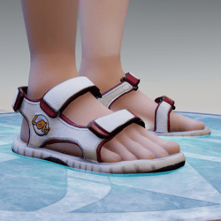 Loki Sandals - White & Red