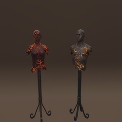 Lava display Manequins
