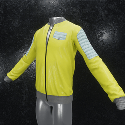 Leather Jacket Ron yellow