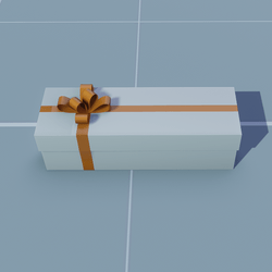 Gift Long Square with Orange Bow