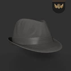 Fedora hat-Dark gray