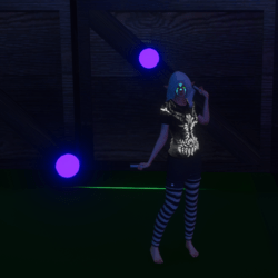 Purple Glowing Poi