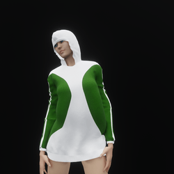 Hoodie Dress Green (TM)