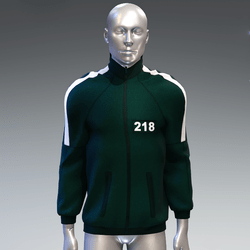 """""""Squid game"""" style sweat jacket male 218"""