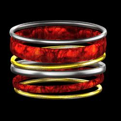 holiday bangles red