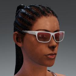Glasses NeroHexagon metallic white