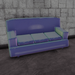 Cafe couch - holo D (3 seats)