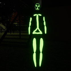 Green Emissive Rigged Stick Woman Avatar