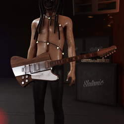 Slatan-o-lux guitar (tobacco)