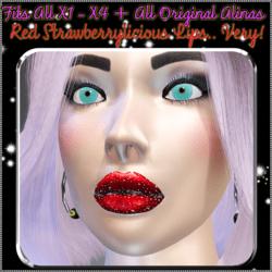 Red Strawberrylicious Lips - Fits all Original Alinas & X1 - X4 Avatars