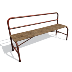 Rusted bench