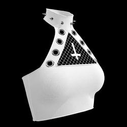 Inverted Cross Halter Top (White)