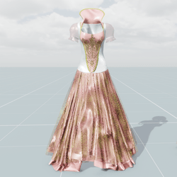 Queen's Dress (Pink White)