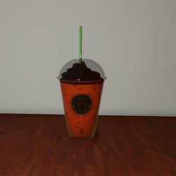 Cloverbucks Spooky Pumpkin Spice Frappuccino