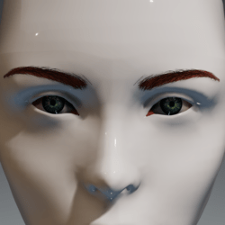 Eyes (blue-green) and brows (red) for the Irene Head by Apocalypse Bunnies