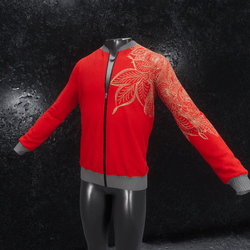 Jacket Ornament red