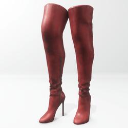 """""""Alina - Daisy"""" and Nicci avatar boots - red"""