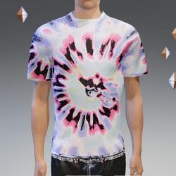 Purple Summer Hip Tie-Dye T-Shirt - Male