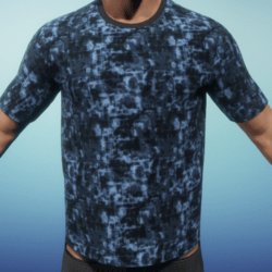 [US] digital camo blue T shirt